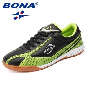 BONA New Arrival Popular Style Men Soccer Shoes Lace Up Indoor Professional Football Action Leather Cow Muscle Free Shipping