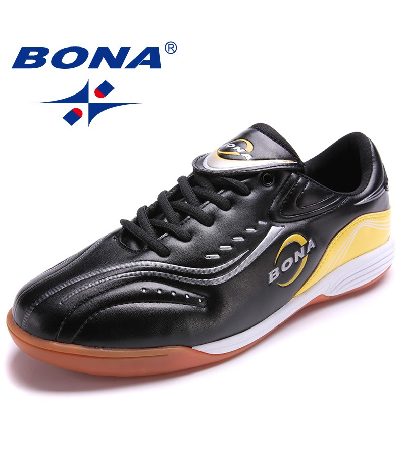 BONA New Classics Style Men Soccer Shoes Outdoor Jogging Football Footwear Men Comfortable Light Sport Shoes Fast Free Shippng
