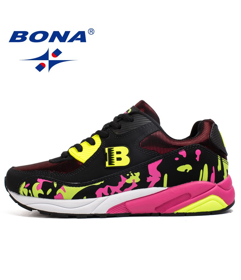 dcb0adbc5 BONA New Classics Style Women Running Shoes Lace Up Sport Shoes Outdoor  Activities Sneakers Comfortable Athletic ...
