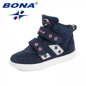 BONA New Popular Style Children Casual Shoes Hook & Loop Girls Flats Synthetic Boys Loafers Outdoor Fashion Sneakers Shoes
