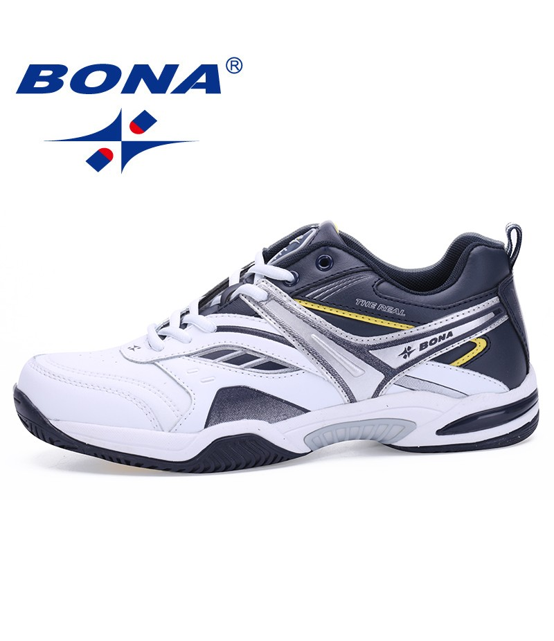 BONA   Shoes made in China Men Tennis Shoes Lace Up Men Sport Shoes Top Quality Comfortable Male Sneakers Shoes Fast Free Shipping