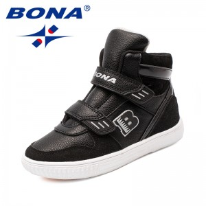 BONA New Arrival Typical Style Children Boots Hook & Loop Boys Winter Shoes Outdoor Fashion Sneakers Light Soft Free Shipping