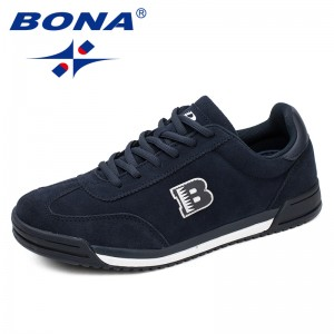 BONA Chinese Shoes manufacture  Men Casual Shoes Lace Up Suede Leather Men Shoes Comfortable Men flats Shoes Soft Light Free Shipping
