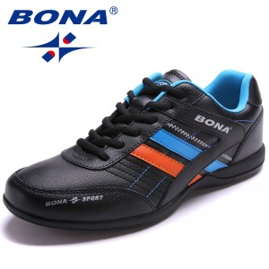BONA Chinese Shoes manufacture  Men Running Shoes Outdoor Walking Jogging Shoes Lace Up Sneakers Light Athletic Shoes Fast Free Shipping