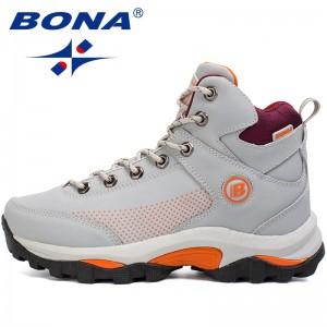 BONA New Popular Style Women Hiking Shoes Outdoor Explore Multi-Fundtion Walking Sneakers Wear-Resistance Sport Shoes For Women