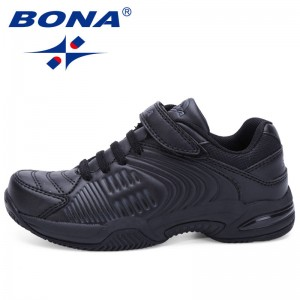 BONA China Shoes  Children Casual Shoes Hook & Loop Boys Shoes Black White Girls Sneakers Shoes Soft Fast Free Shipping