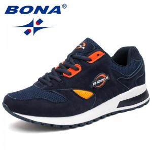 BONA  New Popular Hot Style Men Running Shoes Lace Up Breathable Sport Shoes Men Outdoor Walking Comfortable Sneakers For Male