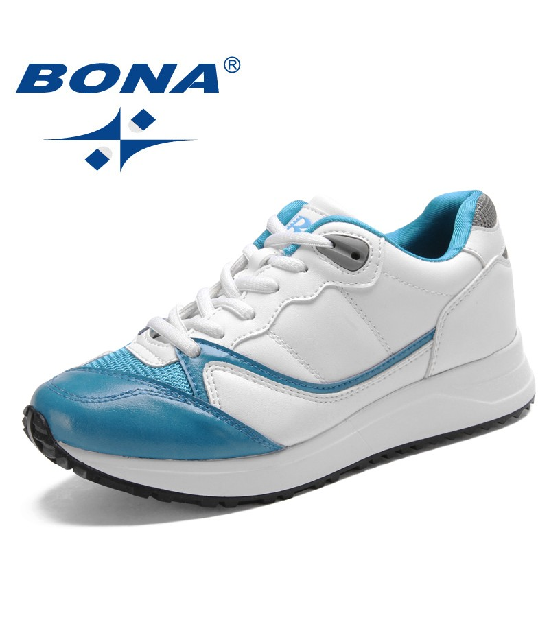 BONA New Popular Style Women Walking Shoes Lace Up Women Shoes Outdoor Jogging Sneakers Comfortable Athletic Shoes Free Shipping