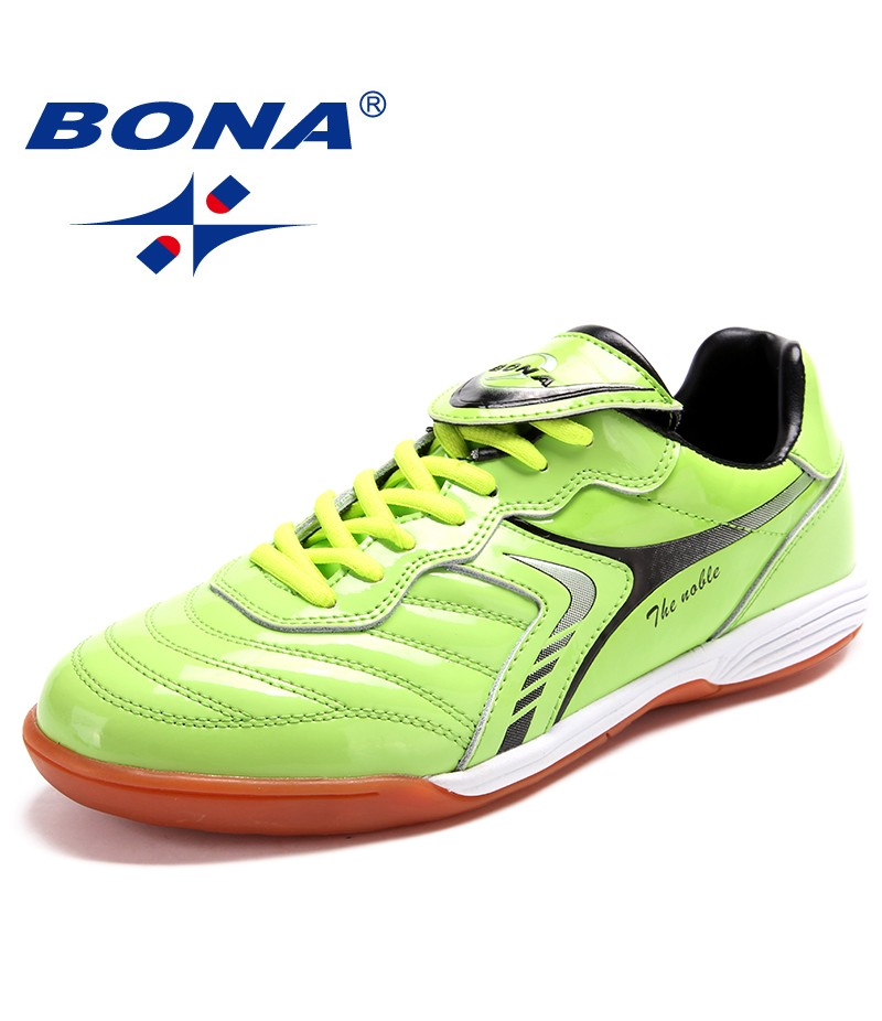 BONA New Classics Style Men Soccer Shoes Professional Trainer Men Football Shoes Lace Up Male Sneakers Comfortable Free Shipping