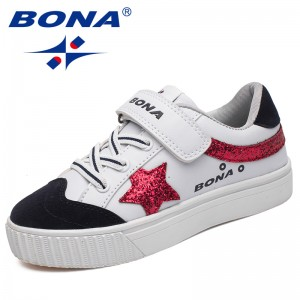 BONA New Fashion Style Children Casual Shoes Hook & Loop Boys Shoes Synthetic Girls Shoes Comfortable Light Soft Free Shipping