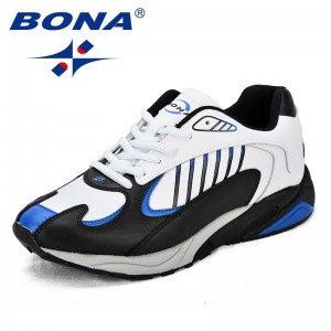 BONA  Chinese Shoes manufacture  Men Running Shoes Split Leather Men Athletic Shoes Outdoor Jogging Shoes Comfortable Sneakers