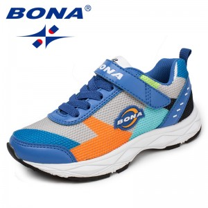 BONA Chinese Shoes manufacture  Children Casual Shoes Mesh Boys Shoes Hook & Loop Girls Loafers Outdoor Fashion Sneakers Free Shipping