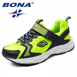 BONA Chinese Shoes manufacture  Children Casual Shoes Hook & Loop Girls Shoes Synthetic Boys Loafers Outdoor Fashion Sneakers