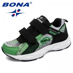 BONA New Fashion Style Children Casual Shoes Hook & Loop Boys Shoes Outdoor Jogging Sneakers Mesh Boys Sport Shoes Free Shipping
