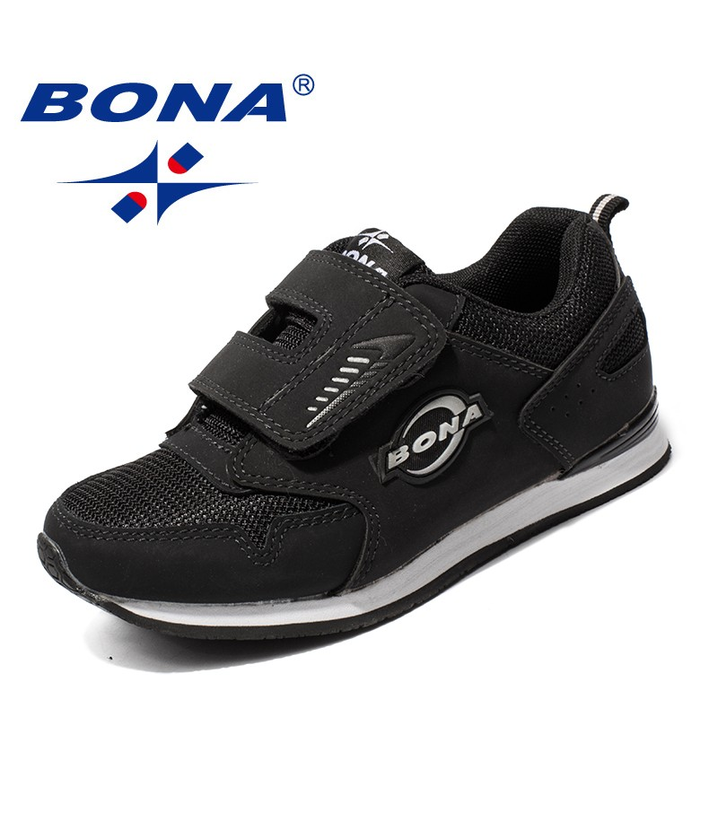 BONA New Arrival Popular Style Children Casual Shoes Hook & Loop Girls Flats Synthetic Boys Loafers Outdoor Fashion Sneakers