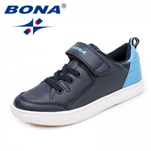 BONA New Fashion Style Children Casual Shoes Hook & Loop Boys Shoes Outdoor Jogging Sneakers Comfortable Light Free Shipping