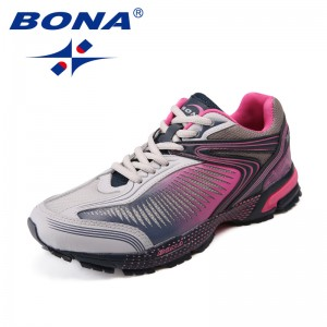 BONA New Arrival Classics Style Women Running Shoes Lace Up Women Athletic Shoes Outdoor Jogging Sneakers Fast Free Shipping