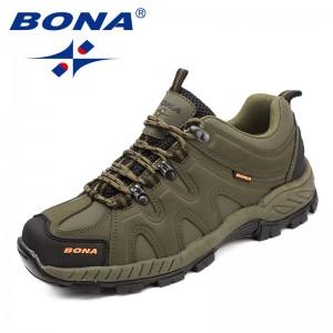 BONA China Shoes  Men Hiking Shoes Lace Up Men Sport Shoes Outdoor Jogging Trekking Sneakers Fast Free Shipping
