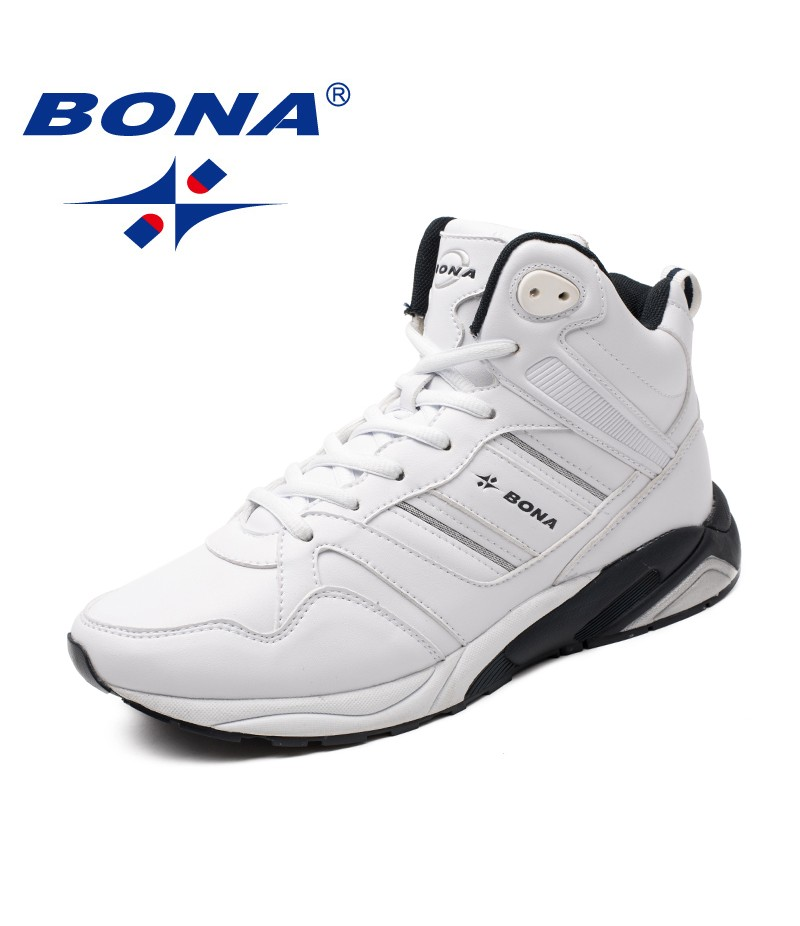 BONA New Arrival Classics Style Men Running Shoes Lace Up Men Athletic Shoes High Upper Men Jogging Sneakers Fast Free Shipping
