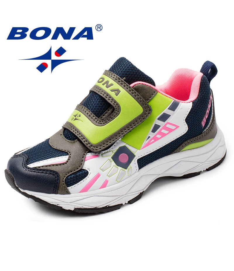 BONA New Arrival Popular Style Children Casual Shoes Synthetic Girls Flats Hook & Loop Boys Loafers Ourdoor Fashion Sneakers
