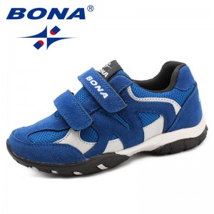 BONA New Arrival Chinese Shoes manufacture  Children Casual Shoes Hook & Loop Boys Loafers Outdoor Fashion Sneakers Light Fast Free Shipping