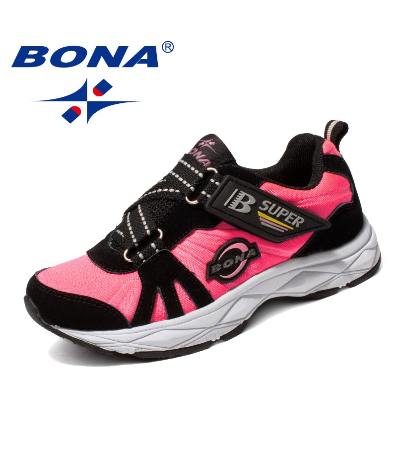 BONA New Popular Style Children Casual Shoes Synthetic Girls Flats Hook & Loop Boys Loafers Outdoor Fashion Sneakers