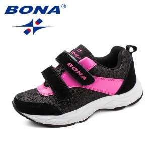 BONA New Fashion Style Children Casual Shoes Hook & Loop Girls Shoes Synthetic Boys Shoes Outdoor Fashion Sneakers Free Shioppin