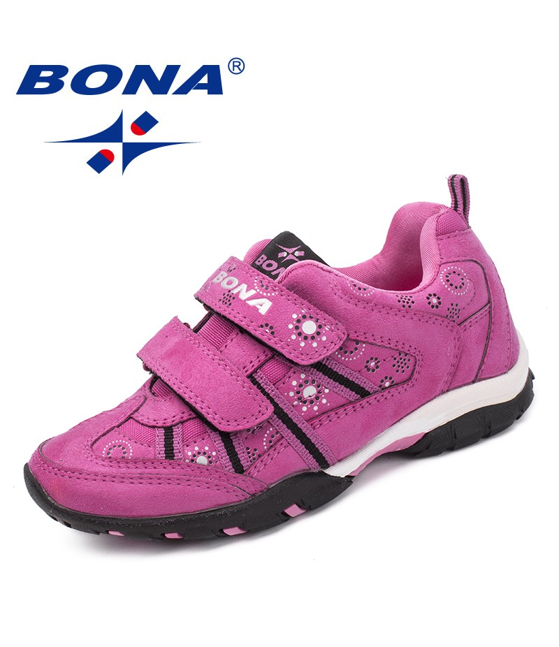 BONA New Classics Style Children Casual Shoes Outdoor Sneakers Shoes Hook & Loop Kids Shoes Synthetic Girls Flats Free Shipping