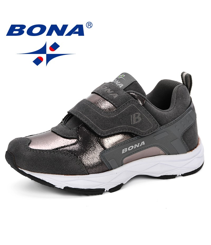 BONA New Popular Style New Designer Kid Boys Letter Sport Running Shoes Breathable Comfortable Sneaker Casual Shoes Children