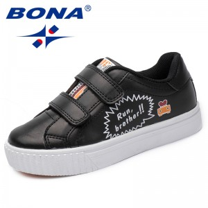 BONA New Fashion Style Children Casual Shoes Outdoor Kids Sneakers Shoes Synthetic Boys Shoes Hook & Loop Girls Loafers Shoes