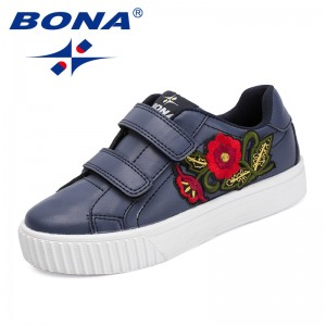 BONA New Classics Style Children Casual Shoes Hook & Loop Girls Flats Synthetic Boys Loafers Outdoor Sneakers Free Shipping