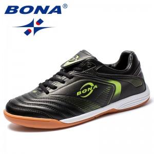 BONA New Arrival Classics Style Men Soccer Shoes Lace Up Men Football Shoes Leather Male Sport Shoes Comfort Men Athletic Shoes