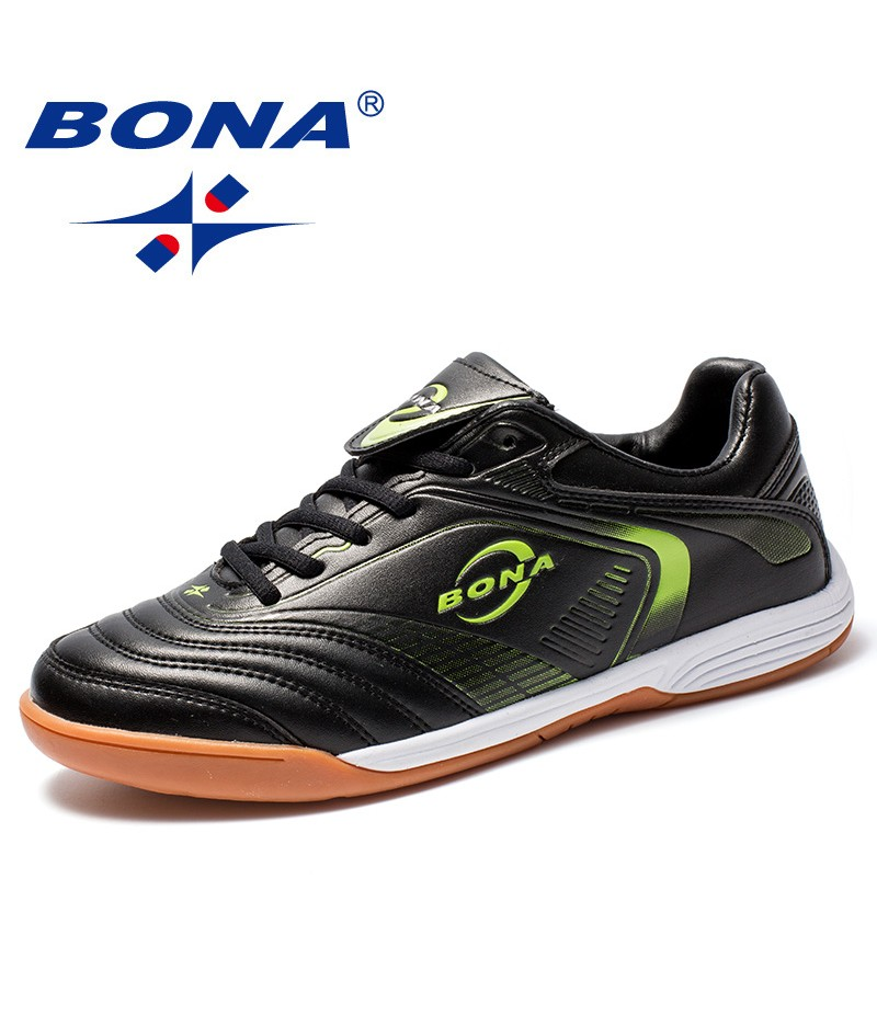 BONA New Arrival Classics Style Men Soccer Shoes Lace Up Men Football Shoes Leather Male Sport Shoes Comfort Men Athletic Shoes