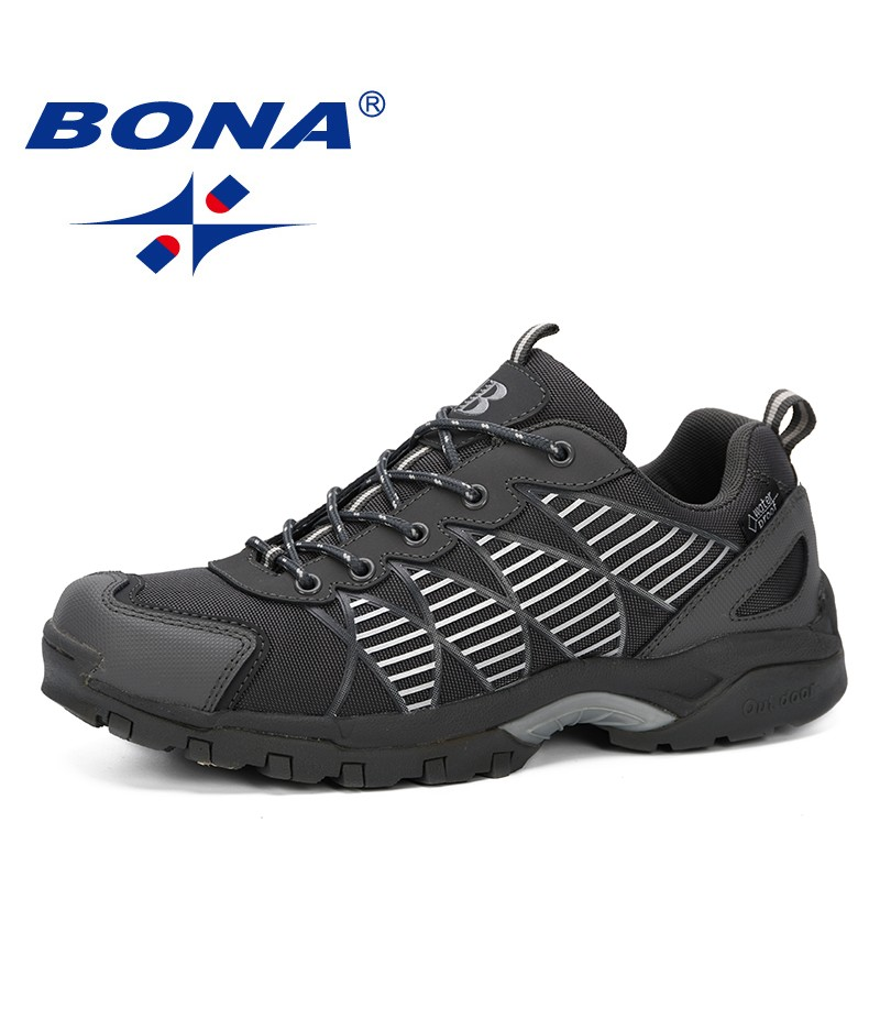 BONA 2019 New Classics Style Men Shoes Professional Outdoor Male Athletic Sport Running Shoes Leather Lace Up Trendy Man Shoes