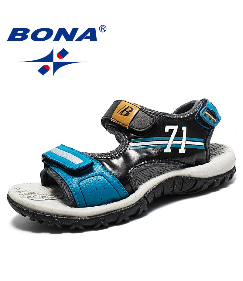 BONA New Popular Style Children Sandals Mixed Color Boys Summer Shoes Flats Heels Kids Beach Sandals Comfortable Free Shipping