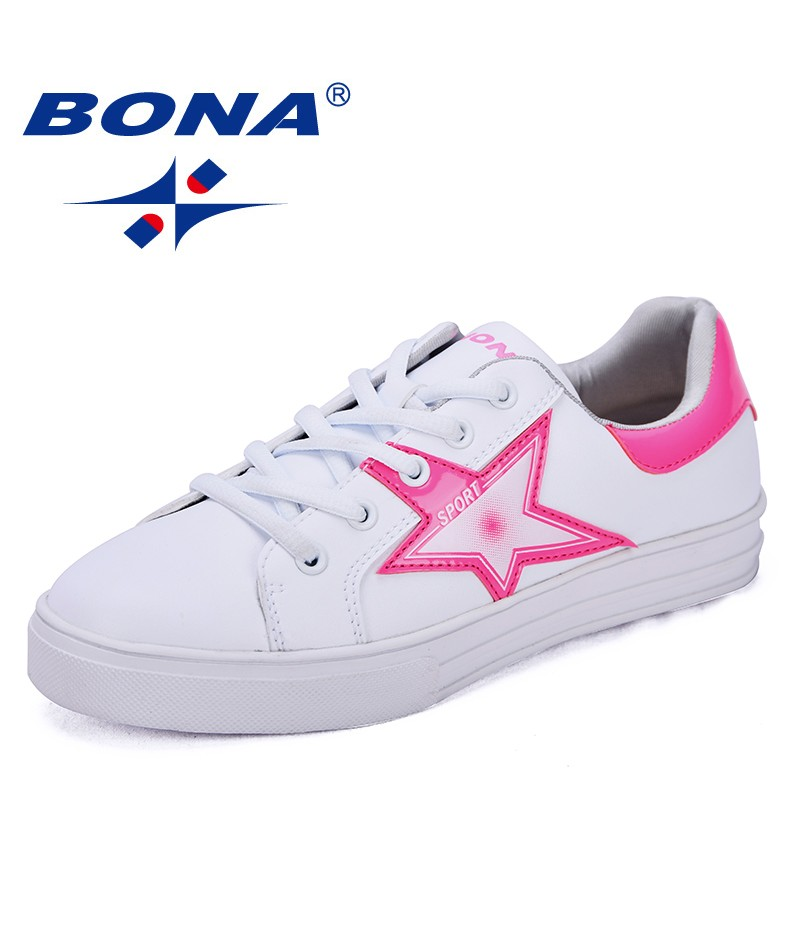BONA New Classics Style Women Skateboarding Shoes Lace Up Female Sport Shoes Synthetic Lady Outdoor Jogging Shoes Sneakers