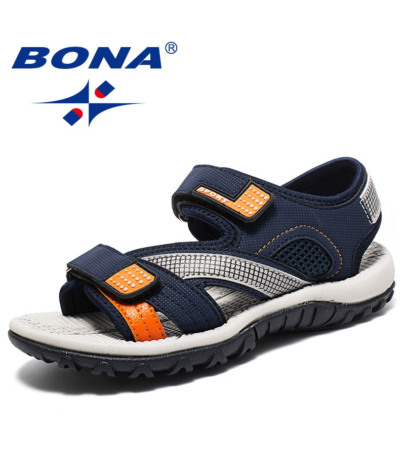 BONA New Classics Style Children Sandals Synthetic Nubuck Boys Summer Shoes Ankle Strap Kids Beach Sandals Soft Free Shipping