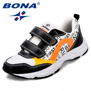 BONA New Fashion Style Children Sneakers Synthetic Hook & Loop Boys Casual Shoes Mixed Color Girls Leisure Shoes Free Shipping