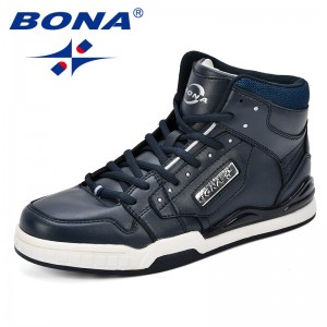 BONA New Arrival Classics Style Men Skateboarding Shoes Action Leather Men Sport Shoes Outdoor Men Jogging Shoes Free Shipping