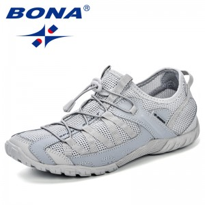 BONA Chinese Shoes Summer Sneakers Breathable Men Casual Shoes Fashion Men Shoes Tenis Masculino Adulto Sapato Masculino Men Leisure Shoe