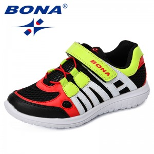BONA 2018 Child Casual Shoes Synthetic Mesh Soft Outsole Girls Sneakers Comfortable Boys Leisure Shoes Outdoor Jogging Shoes