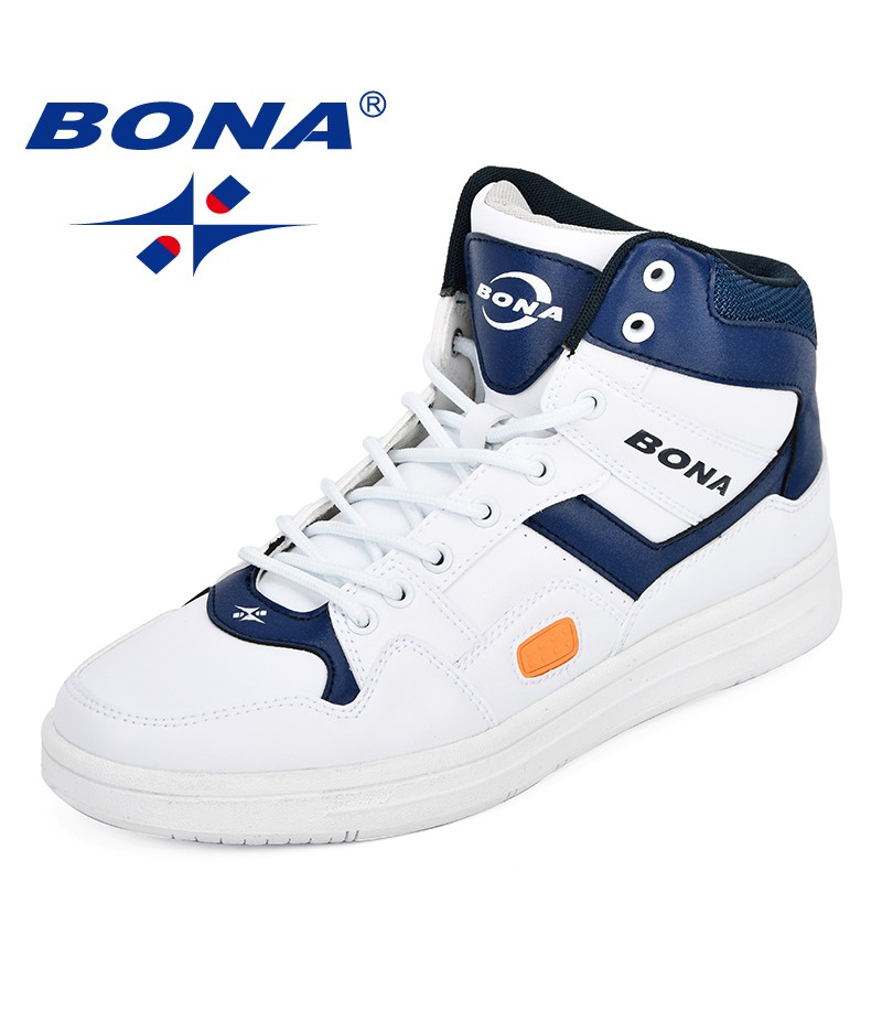 BONA Men Skateboarding Shoes Man Brand Lovers Flat With Walking Sport Shoes Outdoor Athletic Shoes Fashion Comfy Trendy Sneakers