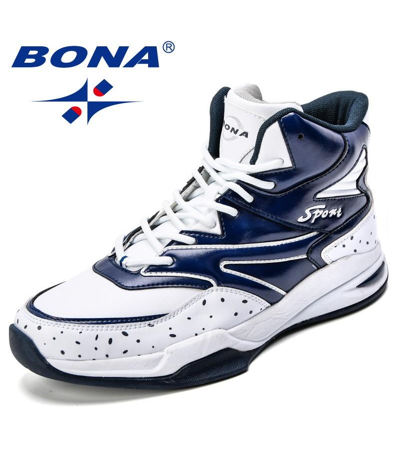 BONA New Basketball Shoes Men Cushion Professional Sport Shoes Outdoor Male Athletics Shoes Cow Split Jogging Shoes Comfortable