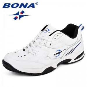 BONA New Arrival Classics Style Men Tenis Shoes Leather Men Athletic Shoes Lace Up Men Outdoor Jogging Walking Shoes for Man
