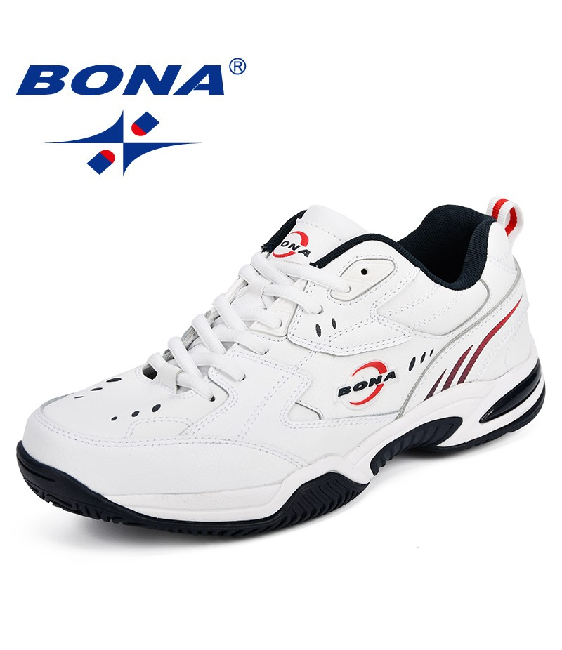 BONA New Arrival Classics Style Men Tenis Shoes Leather Men Athletic Shoes Lace Up Men Outdoor Jogging Walking Shoes for Man
