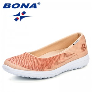BONA 2018 New Women Casual Sport Flats Fashion Shoes Mother Walking Loafers Ultra-Light Feminimo Breathable Air Mesh Sneakers