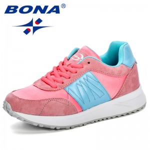 BONA 2019 Adult Breathable Sports Shoes Women Outdoor Athletic Training Light Running Shoes Feminimo Comfortable Sneakers Ladies