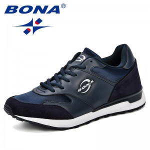 BONA 2018 Men Lightweight Sneakers Microfiber Shoes Comfortable Lace-Up Outdoor Man Casual Shoes Plus Size tenis femini