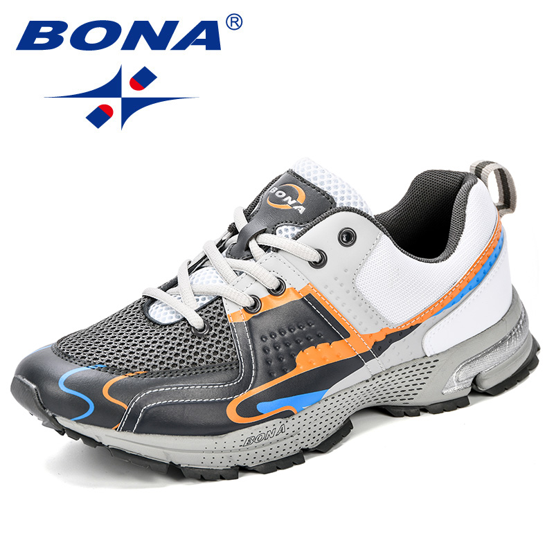 BONA New Style Fashion Men Trending Sports Running Shoes Casual Lightweight Breathable Comfort Sneakers Shoes Men Flat Footwear