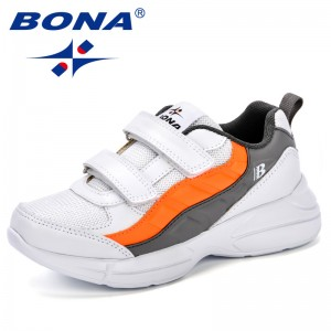 BONA 2018 Autumn Boys Comfortable Sneakers Fashion Mesh Breathable Children's Shoes Boys and Girls Trendy Comfy Casual Shoes